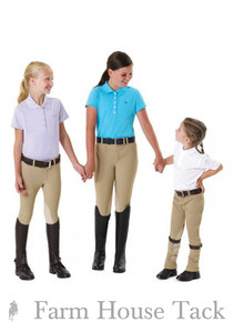 Equistar Child's Equi Tuff Pull On Knee Patch Breeches