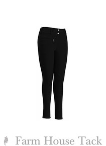 Tuffrider Ladies Cotton LR Wide Waistband Knee Patch Breeches