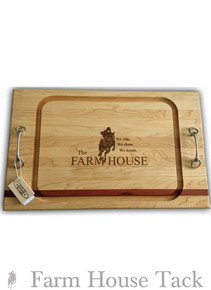 SVM Double Bit Serving Board - Farm House Logo