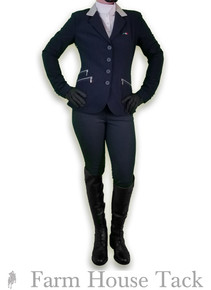 Equiline Melissa Navy Houndstooth Breeches