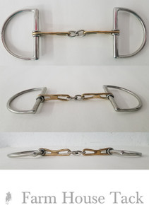 Custom Made Tear Drop Dee Ring Snaffle