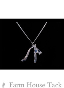 Loriece Equestrian Angled Horse Head Necklace