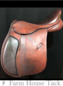 "Black Country Ricochet 17.5"" Used All Purpose Saddle"