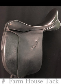 "Black Country Eloquence/Dressage 17"" Used Dressage Saddle"