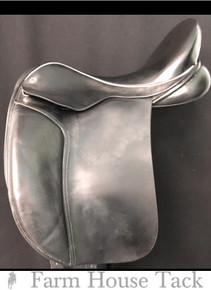 "Black Country Eloquence/Dressage 18"" Used Dressage Saddle"