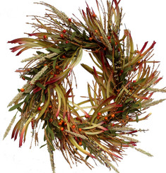 GRASS FALL WREATH - 20""