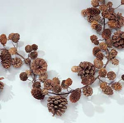 "CONE GARLAND - NATURAL - 55"" - 6 PCS"