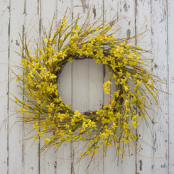 GOLDEN FORSYTHIA WREATH - 22""