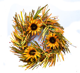 SUNFLOWER HARVEST WREATH - 20""