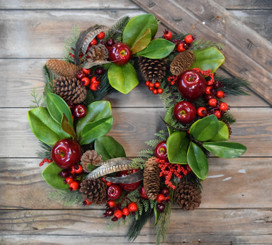 MAGNOLIA APPLE WREATH - 20""