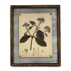 """WALL ART - BLUE FLOWER - 17.5 x 21.5"""""""