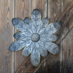 METAL FLOWER - ZINNIA - 16""