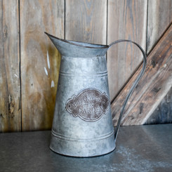 "GALVANIZED PITCHER - 7"" x 7"" x 11.8"""