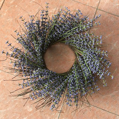 FLOWER BOUQUET WREATH - PURPLE - 24""