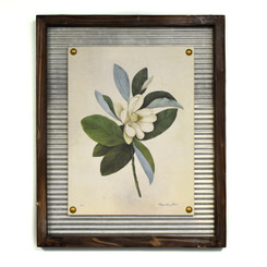WALL ART - FLOWERING MAGNOLIA - 17.5 x 21.5""