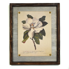 WALL ART - BLOOMING MAGNOLIA - 17.5 x 21.5""