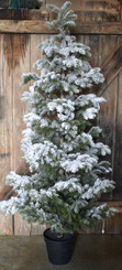 SNOW FLOCKED PINE TREE - LG - 67""