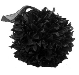 FLUFFY BALL - BLACK - 16""