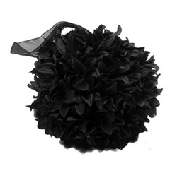 FLUFFY BALL - BLACK - 8""