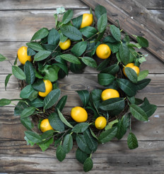 LEMON & VINE WREATH - 22""