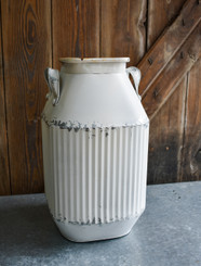 "GALVANIZED CORRUGATED URN - 9 X 15"" H"