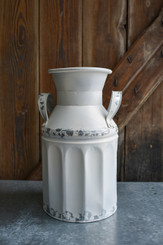 "GALVANIZED FARMHOUSE MILK CAN - 9 X 13"" H"