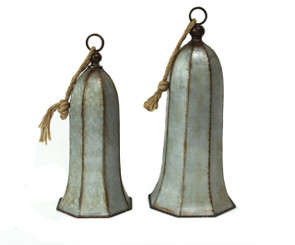 GALVANIZED SILVER BELLS SET/2