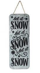 "GALVANIZED LET IT SNOW SIGN - 11.75"" x 31.25"""