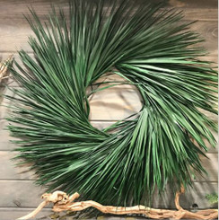 "PALM WREATH PRESERVED 33"" PACKED 1"