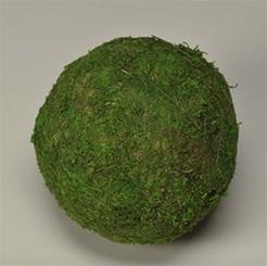 """MOSS BALL - GREEN 4"""" - PACKED 6"""