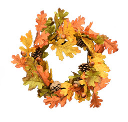 "INDIAN SUMMER OAK 16"" WREATH"
