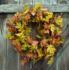 "INDIAN SUMMER OAK 24"" WREATH"