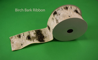 "BIRCH BARK RIBBON - 2.5"" X 10 YDS"