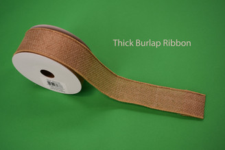 "THICK BURLAP RIBBON - 1.5"" X 10 YDS"