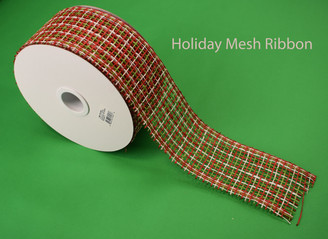 HOLIDAY MESH RIBBON - 2.5 X 20 YDS