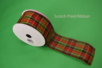 "SCOTCH PLAID RIBBON - 2.5"" X 10 YDS"