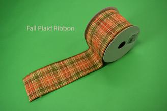 """FALL PLAID RIBBON - 2.5"""" X 10 YDS"""
