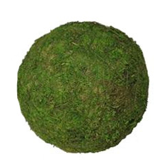 "MOSS BALL - GREEN - 6"" SMALL - 6 PCS"