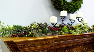 ALL WEATHER MIXED PINE & BERRY GARLAND - 5'