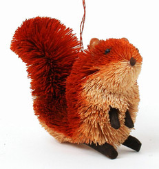 """HANDMADE ORNAMENT - RED SQUIRREL - 3"""""""