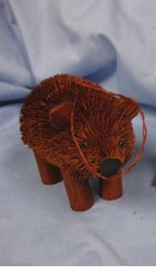 HANDMADE ORNAMENT - GRIZZLY BROWN BEAR - 3.5""