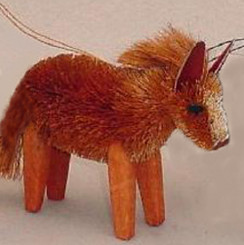 HANDMADE ORNAMENT - CHESTNUT HORSE