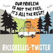 """7"""" split Riccobellis / Twister """"Our Problem Is Not The Fuel, It's All The Rest"""""""