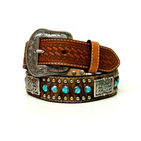 Kids Nocona Hair-On Rhinestone Belt
