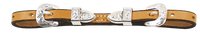 "SCHUTZ LEATHER SHOW CURB STRAP, 1/2"" SILVER BLT #95041SHL"