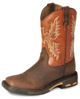 ARIAT KIDS WORKHOG WIDE SQUARE TOE BOOT