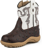ROPER NEW BORN BROWN OSTRICH PRINT CHUNK BOOT