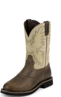 JUSTIN WAXY BROWN  WORK BOOTS