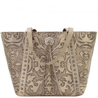 American West, Sand Color, Zip Top Tote.