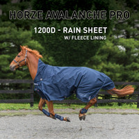 HORZE 1200D RAIN SHEET W/ FLEECE LINING